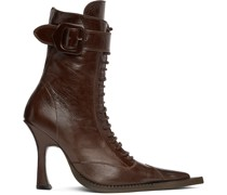 Serpent Lace-Up Heeled Stiefel