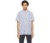 & Capri Striped Short Sleeve Hemd