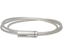 Slick Polished 'Le 11 Grammes' Triple Wrap Cable Armband