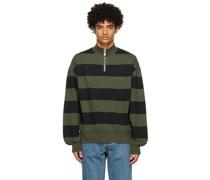 & Striped Half-Zip Sweatshirt