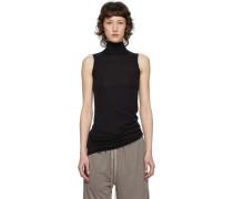 Heavy Jersey Sleeveless Rollkragenpullover Pullover