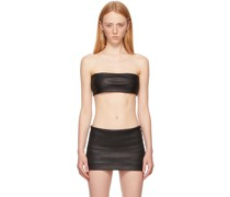 Leather Bandeau Top