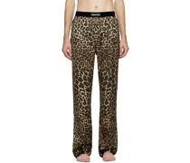 Silk Leopard Lounge Hosen
