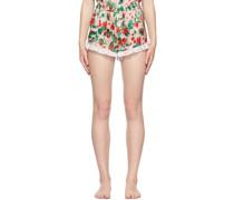 Silk Ruffle Shorts