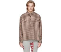 Wool Flannel Check Big Shirt