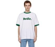 Ribbed 'Drôle' Tshirt