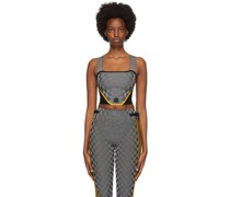 Paolina Russo Edition Reflective Corsage k Top