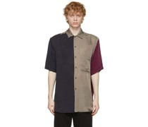 Colorblocked Short Sleeve Hemd
