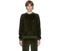 Velvet Embroidered Sweatshirt
