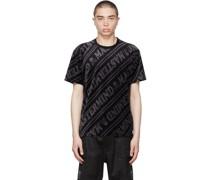 & Velour Diagonal Tshirt