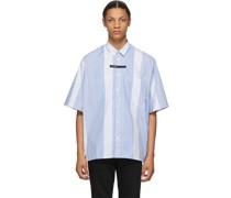 & Stripe Oversized Short Sleeve Hemd