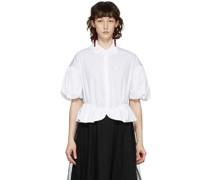 Peplum Frill Short Sleeve Hemd