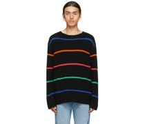Cashmere Stripe Mr. Robin Relaxed Pullover