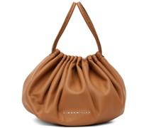 Tan Vegan Leather Scrunch Tasche