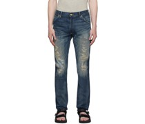High Slim Fit Hand-Repaired Jeans