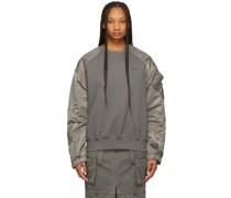 Paneled Fabric Mix Sweatshirt