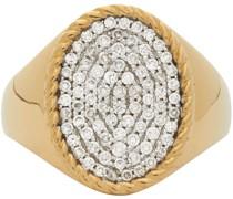 Diamond Oval Signet Ring
