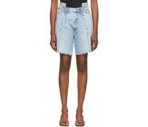 Pieced Angled Shorts