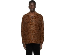 Leopard Open Kragenhemd