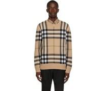 Cashmere Check Jacquard Pullover