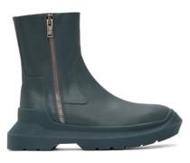 Leather Stiefel mit Reißverschlusss