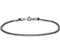 Tiny Chain & Skull Armband