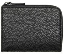 Grained Zipper Brieftasche
