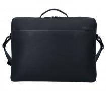Workbag Aktentasche Leder total black
