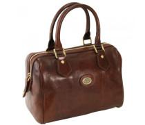 Story Donna Barrel Bag Handtasche Leder marrone