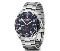 Fieldforce GMT Quarzuhr Edelstahl