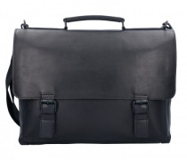 Futura Aktentasche Leder Laptopfach black