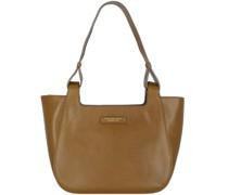 Lucia Shopper Tasche Leder e green-gold