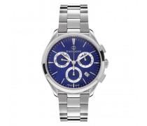 Essentials No. 1 Chronograph Edelstahl blau-silber