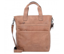 Enzo Shopper Tasche Leder whisky