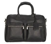 The Diaper Bag Wickeltasche Leder black