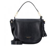 Pearl District Handtasche Leder black gold2