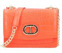Mini Bag Umhängetasche Leder arancio