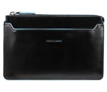 Blue Square Clutch Tasche RFID Leder black