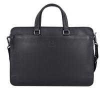 Bakerloo Aktentasche Leder Laptopfach black