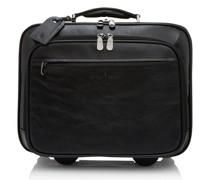 Firenze 2-Rollen Businesstrolley RFID Leder Laptopfach Black