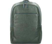 B2S Rucksack RFID Leder Laptopfach green