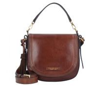 Pearldistrict Handtasche Leder marrone