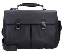 Black Square Aktentasche Leder Laptopfach