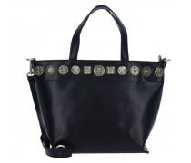 Shopper Tasche Leder black