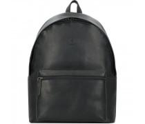 Blackwall Rucksack Leder Laptopfach black