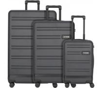 Concourse 4-Rollen Kofferset 3tlg. black