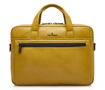 Nappa X Charlie Aktentasche RFID Leder Laptopfach yellow