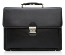 Realta Aktentasche RFID Leder Laptopfach black