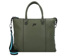 G3 Plus Handtasche Leder verde militare