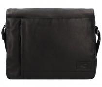 Laredo Messenger Leder Laptopfach black